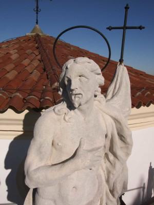 Statua dopo l'intervento di restauro lapideo