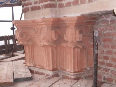 restauro stucchi capitelli andezeno torino dopo